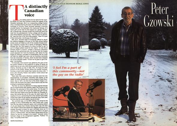 Article Preview: A distinctly Canadian voice, December 1995 | Maclean's