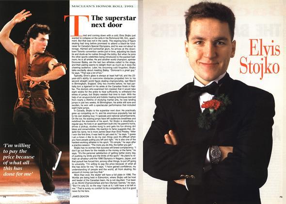 Article Preview: The superstar next door, December 1995 | Maclean's