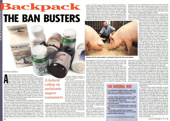Article Preview: THE BAN BUSTERS, December 1995 | Maclean's