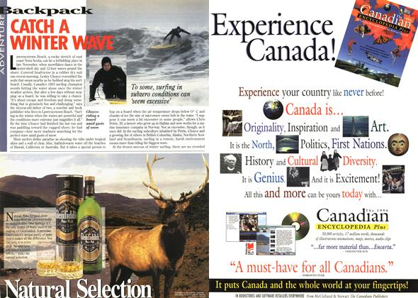 Article Preview: CATCH A WINTER WAVE, December 1995 | Maclean's