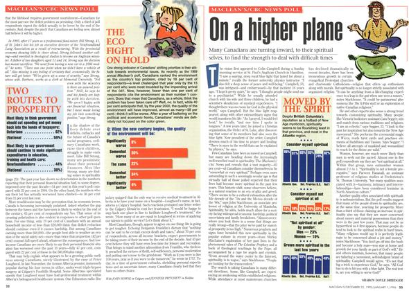 Article Preview: On a higher plane, DECEMBER 25,1995/JANUARY 1, 1996 1995 | Maclean's