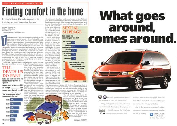 Article Preview: Finding comfort in the home, DECEMBER 25,1995/JANUARY 1, 1996 1995 | Maclean's