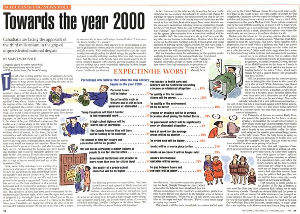 Article Preview: Towards the year 2000, DECEMBER 25,1995/JANUARY 1, 1996 1995 | Maclean's