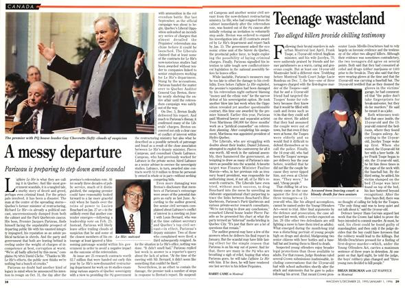 Article Preview: Teenage wasteland, DECEMBER 25,1995/JANUARY 1, 1996 1995 | Maclean's