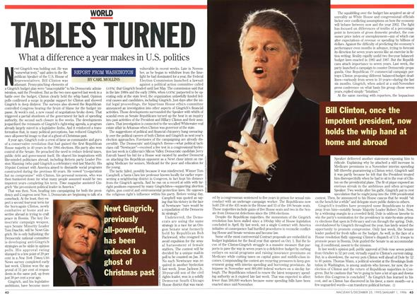 Article Preview: TABLES TURNED, DECEMBER 25,1995/JANUARY 1, 1996 1995 | Maclean's