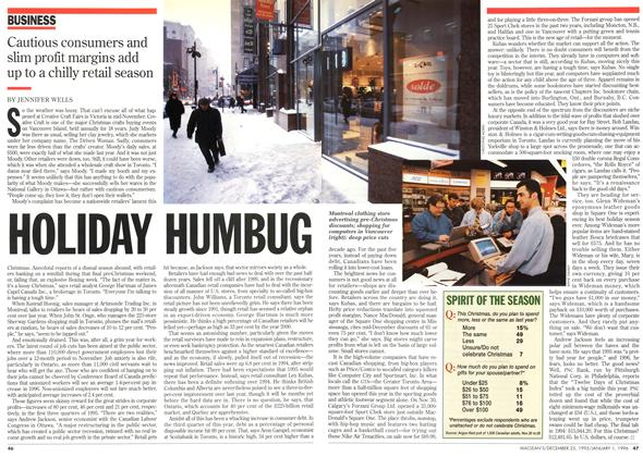 Article Preview: HOLIDAY HUMBUG, DECEMBER 25,1995/JANUARY 1, 1996 1995 | Maclean's