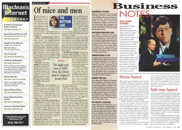 Article Preview: Business NOTES, DECEMBER 25,1995/JANUARY 1, 1996 1995 | Maclean's