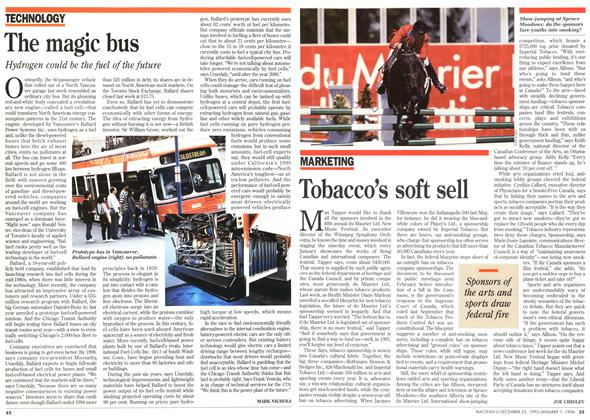 Article Preview: Tobacco's soft sell, DECEMBER 25,1995/JANUARY 1, 1996 1995 | Maclean's