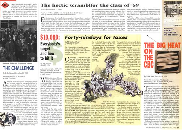 Article Preview: Forty-nine days for taxes, DECEMBER 25,1995/JANUARY 1, 1996 1995 | Maclean's