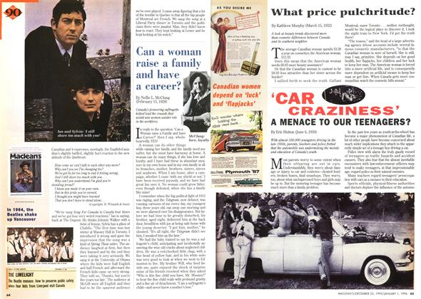 Article Preview: What price pulchritude?, DECEMBER 25,1995/JANUARY 1, 1996 1995 | Maclean's