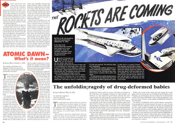 Article Preview: THE ROCKETS ARE COMING, DECEMBER 25,1995/JANUARY 1, 1996 1995 | Maclean's