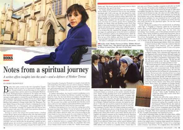 Article Preview: Notes from a spiritual journey, DECEMBER 25,1995/JANUARY 1, 1996 1995 | Maclean's