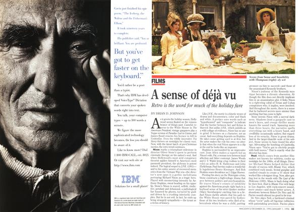 Article Preview: A sense of déjà vu, DECEMBER 25,1995/JANUARY 1, 1996 1995 | Maclean's
