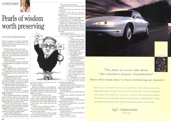 Article Preview: Pearls of wisdom worth preserving, DECEMBER 25,1995/JANUARY 1, 1996 1995 | Maclean's