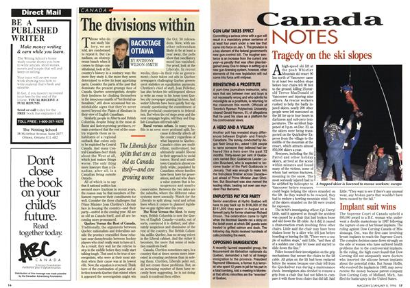 Article Preview: The divisions within, January 1996 | Maclean's