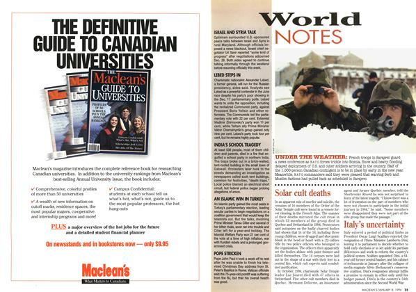 Article Preview: World NOTES, January 1996 | Maclean's