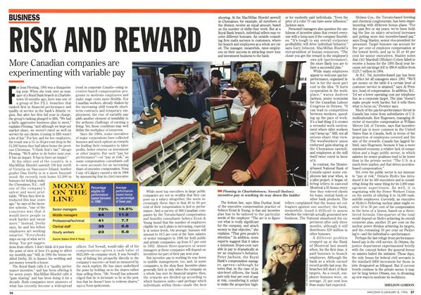 Article Preview: RISK AND REWARD, January 1996 | Maclean's