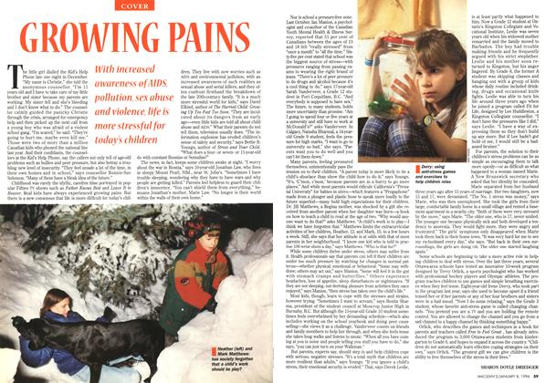 Article Preview: GROWING PAINS, January 1996 | Maclean's