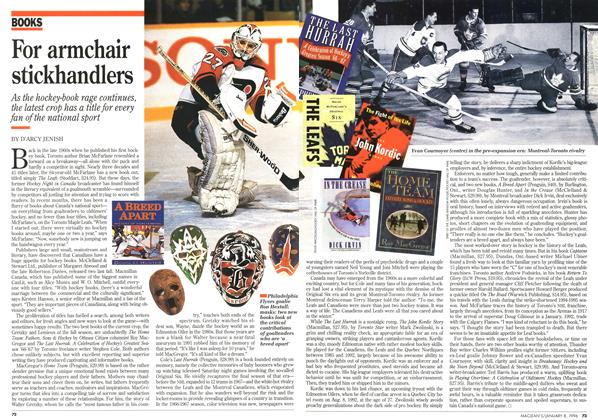 Article Preview: For armchair stickhandlers, January 1996 | Maclean's