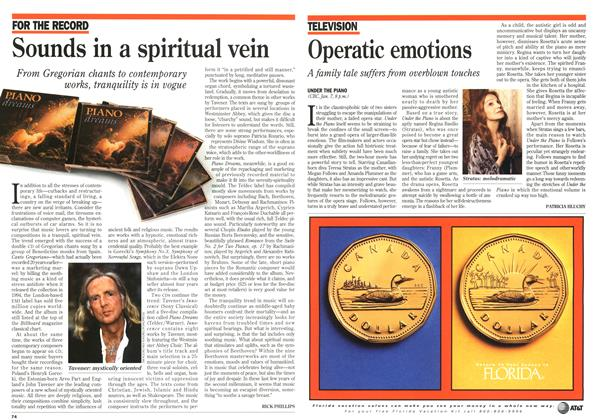 Article Preview: Operatic emotions, January 1996 | Maclean's