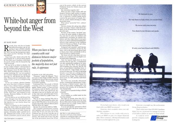 Article Preview: White-hot anger from beyond the West, January 1996 | Maclean's
