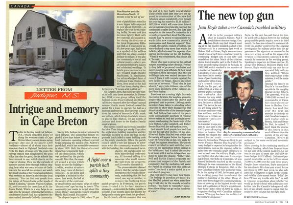 Article Preview: Intrigue and memory in Cape Breton, January 1996 | Maclean's