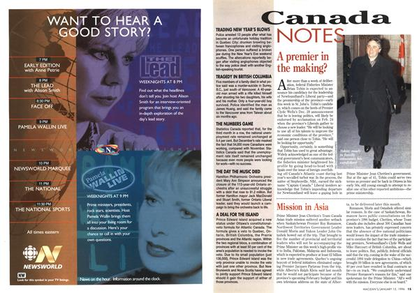 Article Preview: Canada NOTES, January 1996 | Maclean's