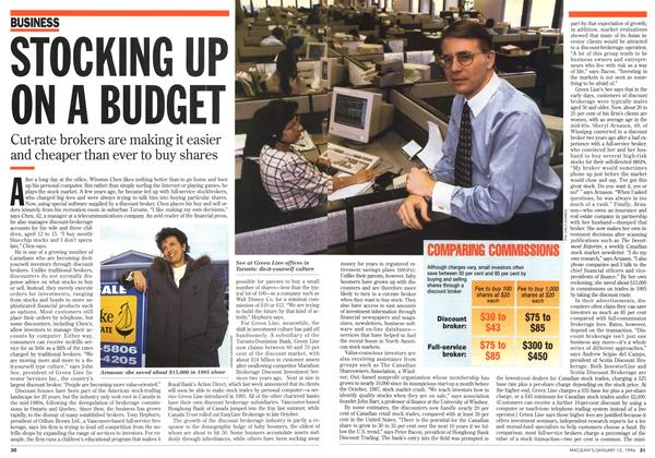 Article Preview: STOCKING UP ON A BUDGET, January 1996 | Maclean's
