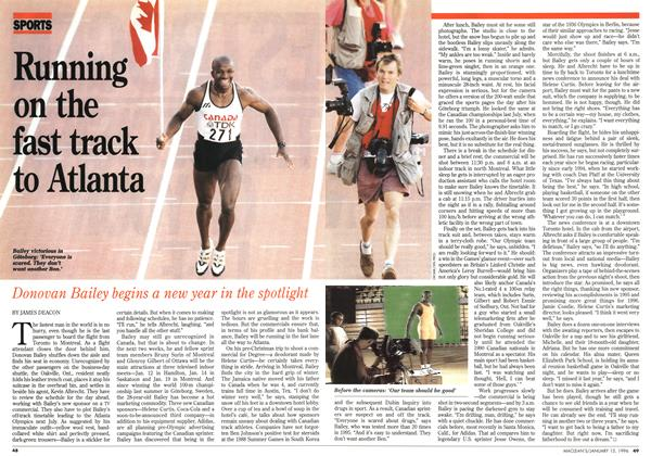 Article Preview: Running on the fast track to Atlanta, January 1996 | Maclean's