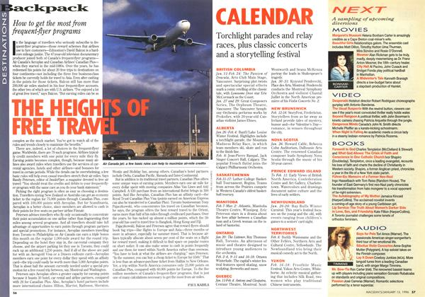 Article Preview: THE HEIGHTS OF FREE TRAVEL, January 1996 | Maclean's