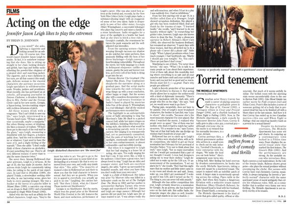 Article Preview: Acting on the edge, January 1996 | Maclean's