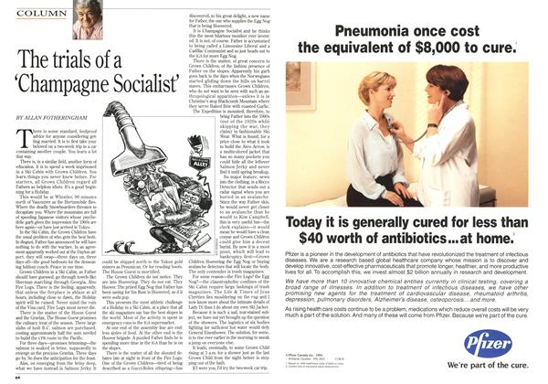 Article Preview: The trials of a 'Champagne Socialist', January 1996 | Maclean's