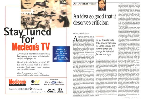 Article Preview: An idea so good that it deserves criticism, January 1996 | Maclean's