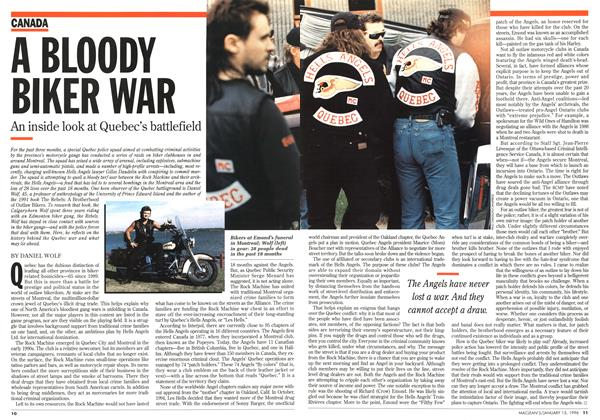 Article Preview: A BLOODY BIKER WAR, January 1996 | Maclean's