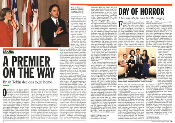 Article Preview: DAY OF HORROR, January 1996 | Maclean's