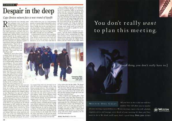 Article Preview: Despair in the deep, January 1996 | Maclean's