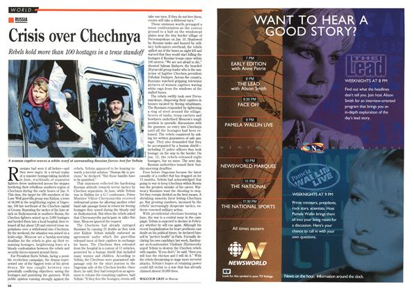 Article Preview: Crisis over Chechnya, January 1996 | Maclean's