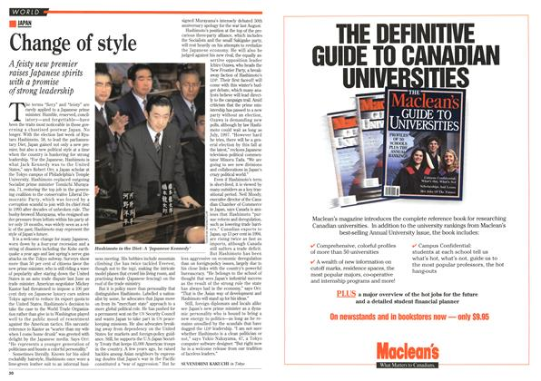 Article Preview: Change of style, January 1996 | Maclean's