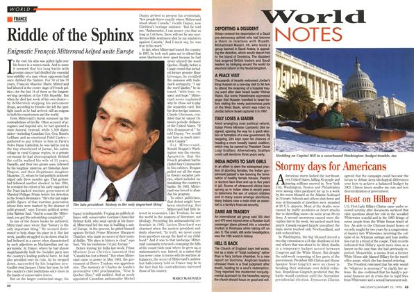 Article Preview: Riddle of the Sphinx, January 1996 | Maclean's