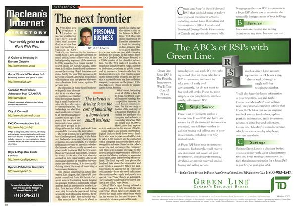 Article Preview: The next frontier, January 1996 | Maclean's