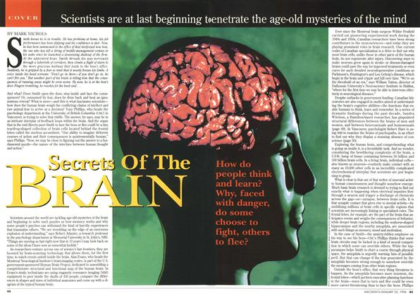 Article Preview: Secrets Of The BRAIN, January 1996 | Maclean's