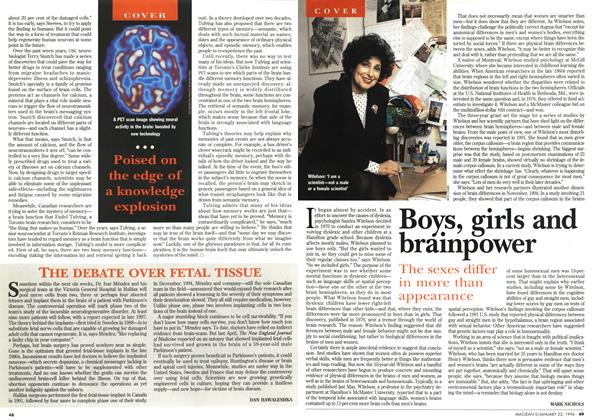 Article Preview: Boys, girls and brainpower, January 1996 | Maclean's