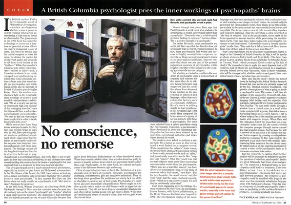 Article Preview: No conscience, no remorse, January 1996 | Maclean's