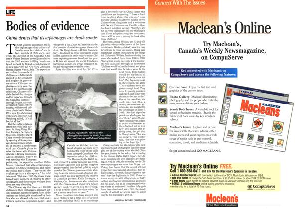 Article Preview: Bodies of evidence, January 1996 | Maclean's