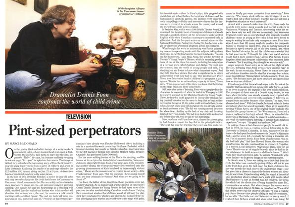 Article Preview: Pint-sized perpetrators, January 1996 | Maclean's