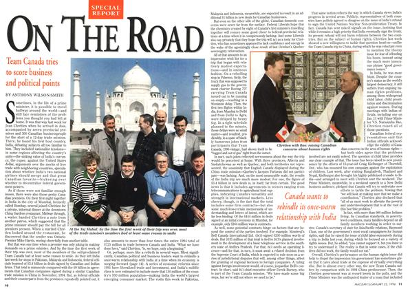 Article Preview: ON THE ROAD, January 1996 | Maclean's