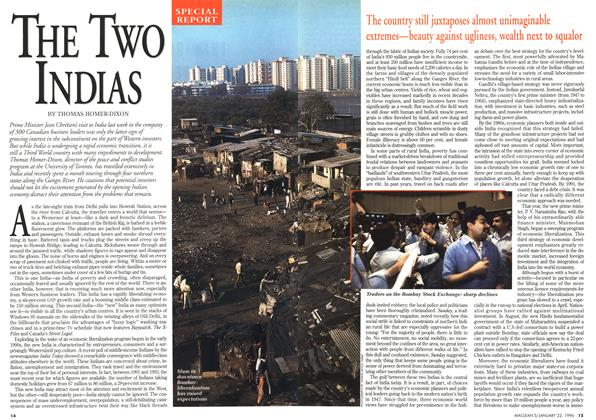 Article Preview: THE TWO INDIAS, January 1996 | Maclean's