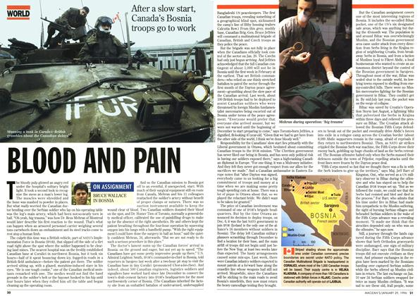 Article Preview: BLOOD AND PAIN, January 1996 | Maclean's
