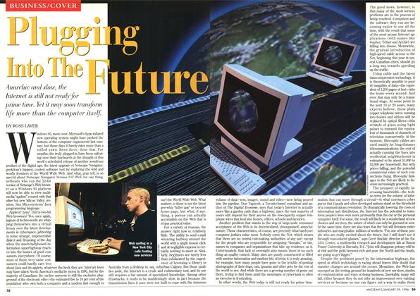 Article Preview: Plugging Into The Future, January 1996 | Maclean's