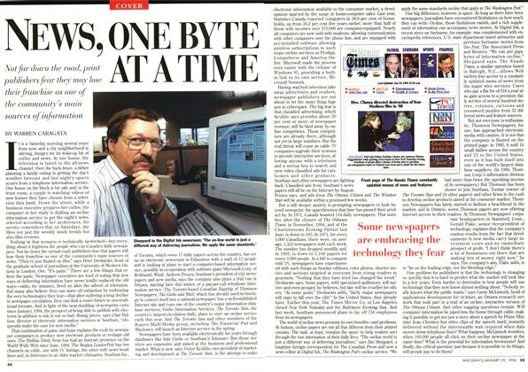Article Preview: NEWS, ONE BYTE AT A TIME, January 1996 | Maclean's
